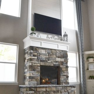 Stone Fireplace Images Inspirational Diy Fireplace with Stone & Shiplap
