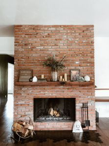 Stone Veneer Over Brick Fireplace Fresh This Living Room Transformation Features A 100 Year Old