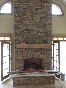 Stone Veneer Over Brick Fireplace Lovely Veneer Screened Porch Fireplace Ideas