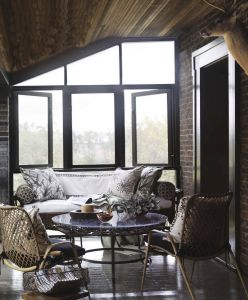 Sunroom at the Brick New Veranda Love the Glass Windows