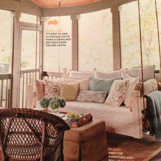 Sunroom Interior Elegant Sunroom Swing Swing 3