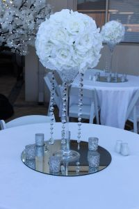Tag Decorative Balls with Flowers Awesome Silk Rose Kissing Ball Centerpiece Hire with Crystal Strands