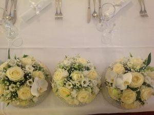 Tag Decorative Balls with Flowers Elegant Pin On Wedding Flower Decoration