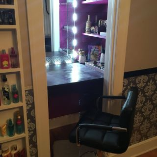 Turn A Closet Into An Office Luxury Closet Turned Beauty Booth Dream Closet= Reality