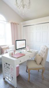 Turn A Closet Into An Office New Most Romantic Pink Home Fices Color Scheme Ideas 025