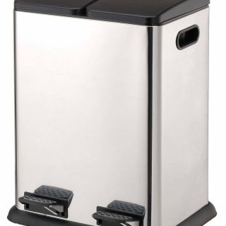 Under the Sink Garbage Cans Lovely Stainless Steel 10 57 Gallon Step Multi Partments