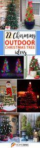 Unusual Christmas Decorations Outdoor Beautiful Outdoor Christmas Tree Design Ideas