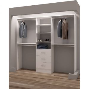 Walk In Closet Door Elegant Tidysquares Classic Wood 87 Inch Reach In Closet organizer