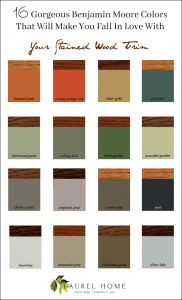 Wall Colors with Wood Trim Elegant the Stained Wood Trim Stays 16 Wall Colors to Make It Sing