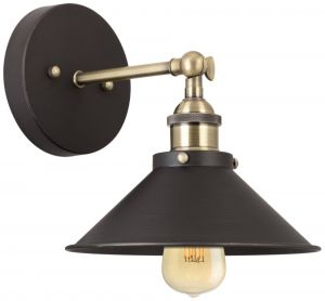 """Wall Sconces with Fabric Shades Beautiful Kira Home In 9"""" Farmhouse Wall Sconce Ceiling Light 2 In 1 Design Adjustable Head Antique Brass Accents"""