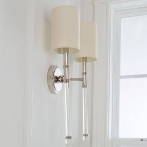 Wall Sconces with Fabric Shades Inspirational Slim Silhouette Double Arm Sconce In 2019 Lighting