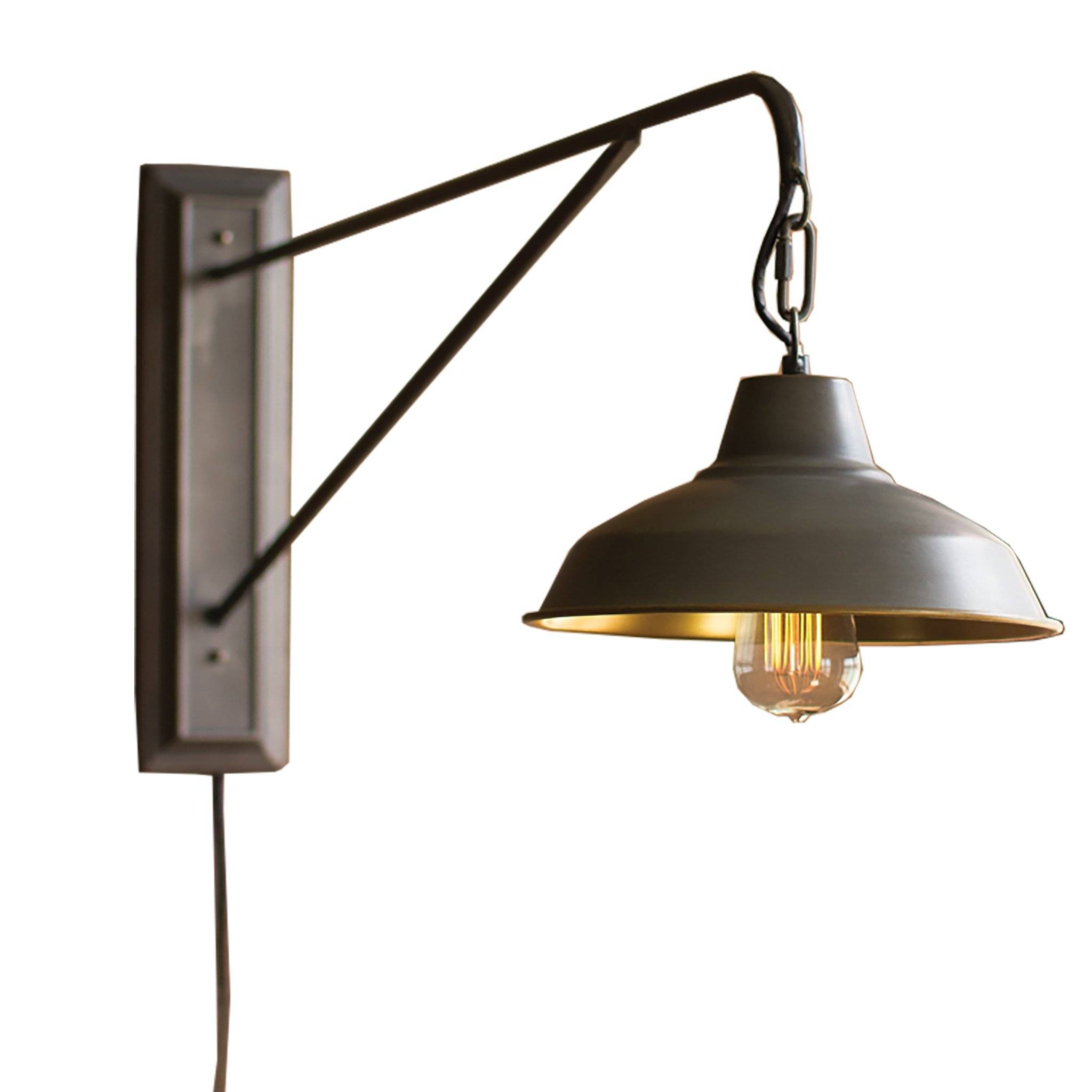 Farmhouse Industrial Modern Plug In Wall Sconce 2048x