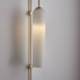 Wall Sconces with Fabric Shades Luxury Articolo Float Wall Sconce Brass Rod and Fitting with Snow