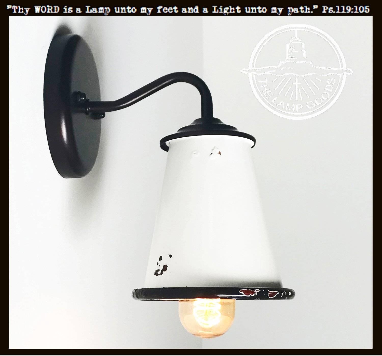White enamel wall sconce farmhouse lighting 2048x