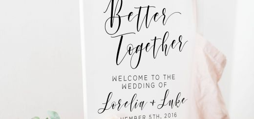 Wedding Reception Sign Elegant Better together Custom Wedding Sign Wedding Printable