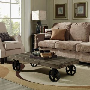Wheeled Coffee Table Inspirational fortress Wood top Coffee Table Coffee Table