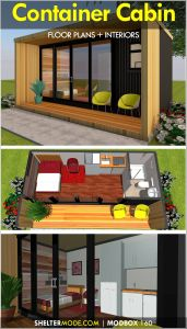 Where are Shipping Containers Made New A Shipping Container Cabin Designed Using A Single 20 Foot