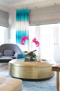 White and Aqua Living Room Luxury Interior by Grace Blu
