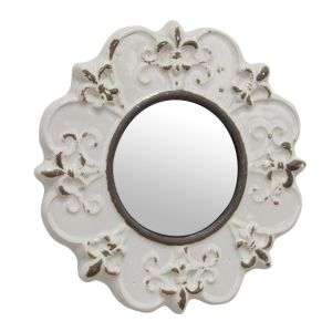 White Decorative Wall Mirror Lovely Stonebriar Decorative Round Antique White Ceramic Wall