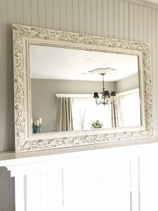 White Framed Decorative Mirror Awesome Cream and Black Bathroom Mirror Shabby Chic Style Farmhouse