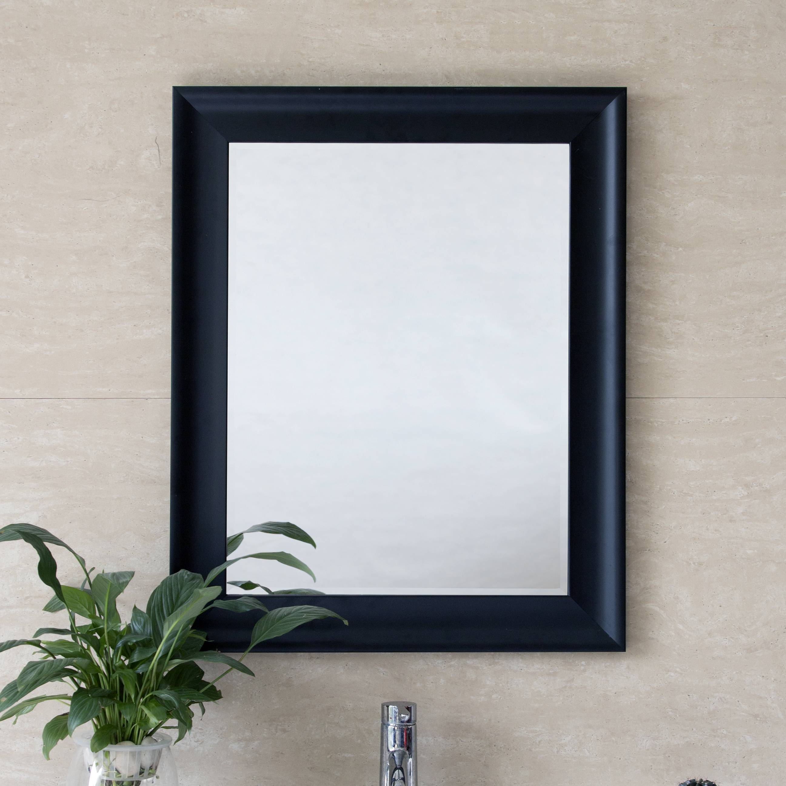 Black Modern Wall Mirror 1824 1
