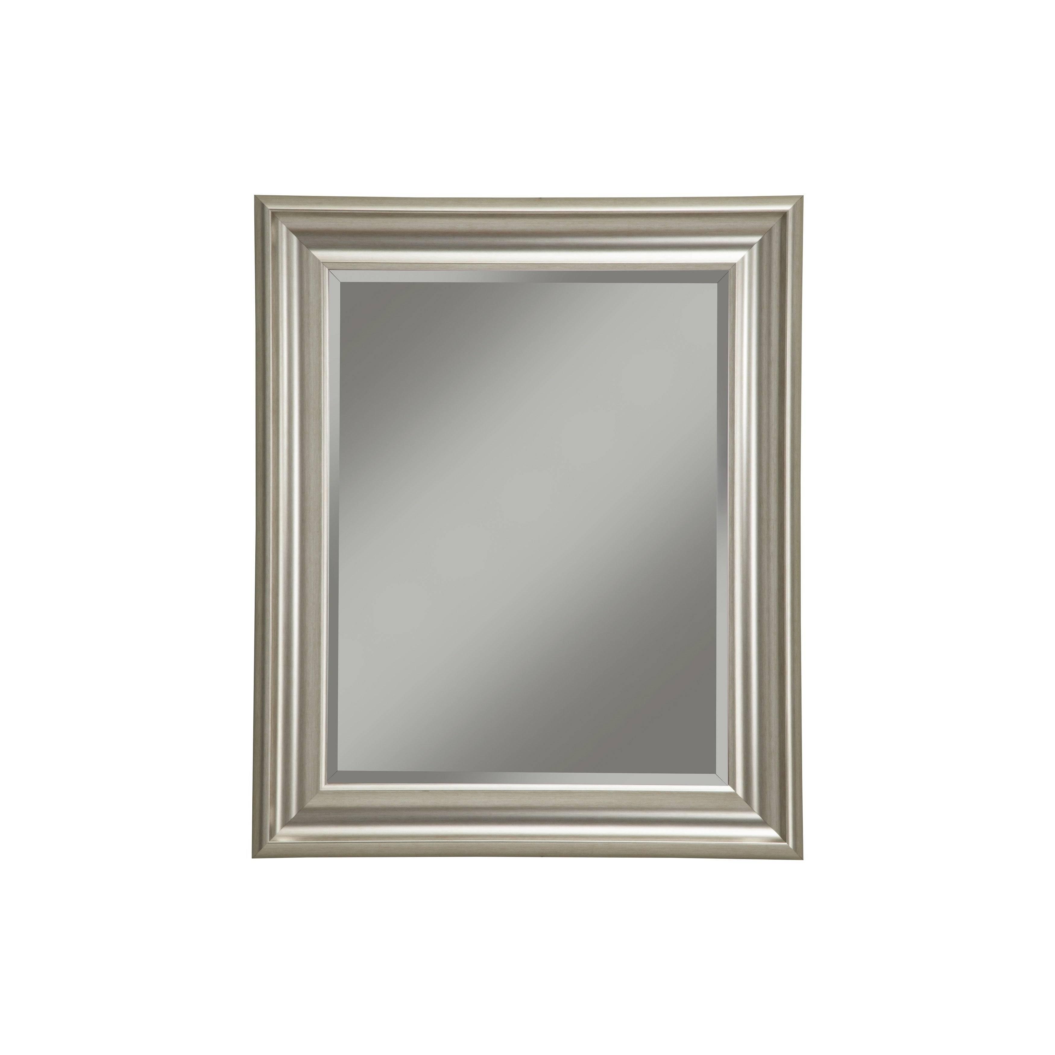 Sandberg Furniture Champagne Silver Wall Mirror 36 x 30 inch c3f4f1e1 ff68 4b18 821f a522c4