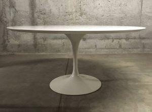 White Marble Tulip Table Elegant Vintage Tulip Dining Table by Eero Saarinen for Knoll International