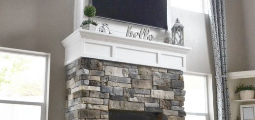 White Stone Fireplace Beautiful Diy Fireplace with Stone & Shiplap