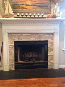 White Stone Fireplace Inspirational Fireplace Idea Mantel Wainscoting Design Craftsman