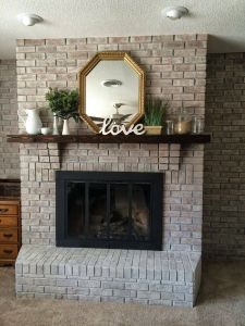 White Stone Fireplace Luxury White Washing Brick with Gray Beige Walking with Dancers