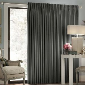 Window Treatment Ideas for Sliding Glass Doors Beautiful Features Material Polyester Color Charcoal the