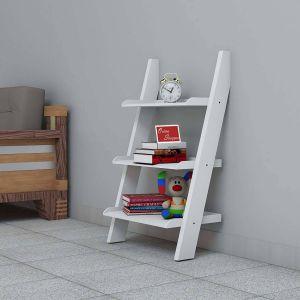 Wood Ladder Shelf Beautiful Lineshoppee Escalera Leaning Bookcase Showcase Ladder and Room organizer Engineered Wood Wall Shelf White