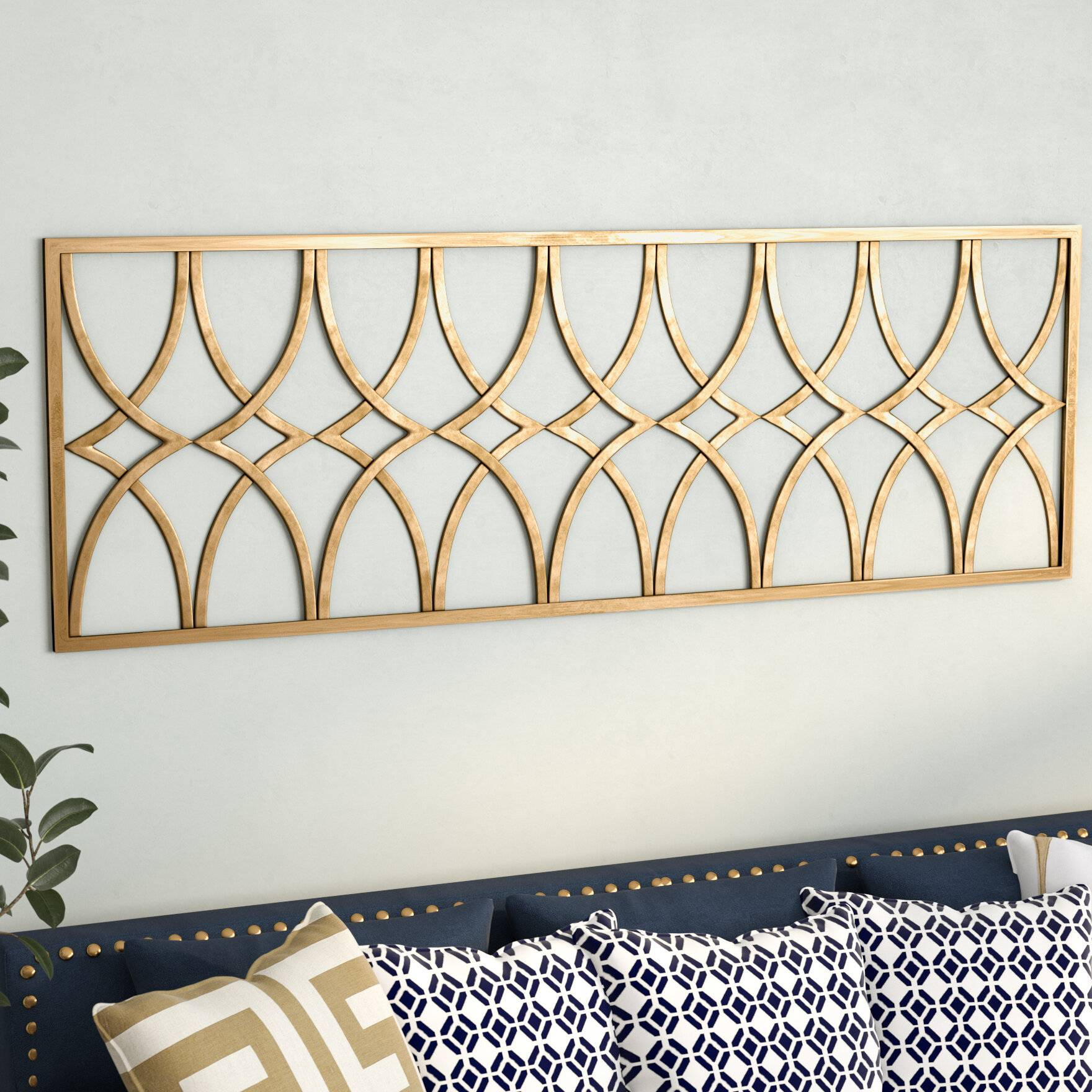 gold metal wall decor