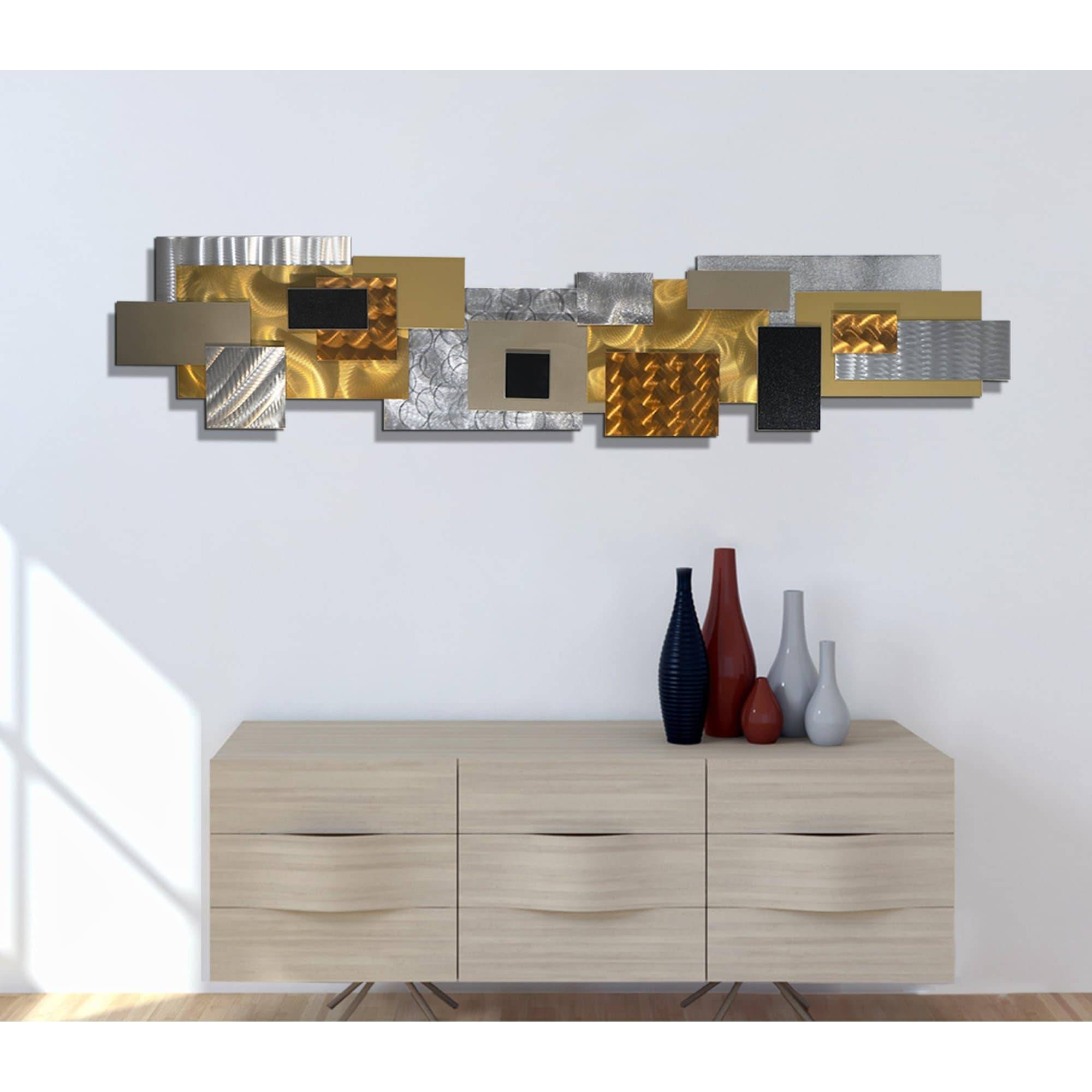 Statements2000 Extra Modern 3D Metal Wall Art Hanging Sculpture Jon Allen Copper Impromto XL
