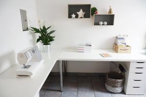 Workstation Ideas New Minimalist Corner Desk Setup Ikea Linnmon Desk top with