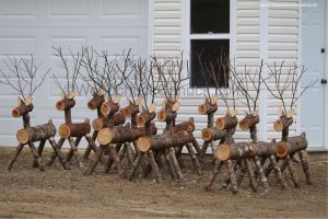 Yard Art Christmas Decorations Awesome Image Result for Log Reindeer Yard Decorations