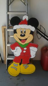 Yard Art Christmas Decorations Inspirational Yard Art Cut Out 4 Feet Tall Christmas Mickey Mouse Out Of