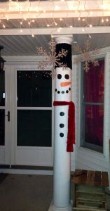 Yard Art Christmas Decorations Lovely Turn Your Front Porch Pillars In to Snow Men