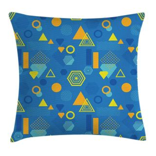 Yellow Decorative Pillow Covers Elegant Amazon K0k2t0 Yellow and Blue Throw Pillow Cushion