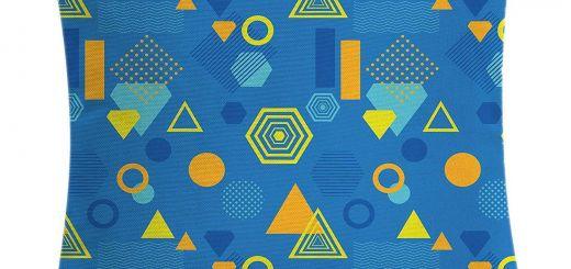 Yellow Decorative Pillow Covers Elegant Amazon K0k2t0 Yellow and Blue Throw Pillow Cushion