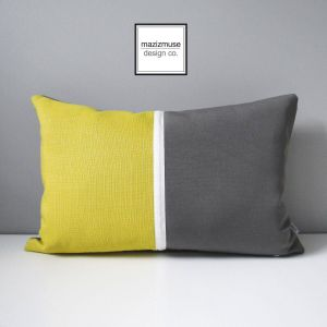 Yellow Decorative Pillow Covers Lovely Grey & Acid Yellow Outdoor Pillow Cover Decorative Pillow