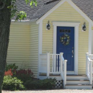 Yellow Exterior Door Awesome Yellow House Blue Door Done In 2019