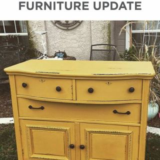 Yellow Painted Dresser Lovely Personal Munching area Should Be Useful but This Does Not
