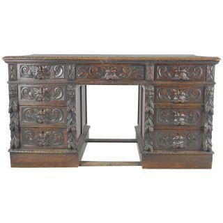 Antique Writing Desk New 1stdibs Desk Writing Table Antique Pedestal Carved