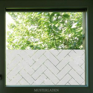 Artscape Window Film Elegant Herringbone Window Geometric Privacy Decorative