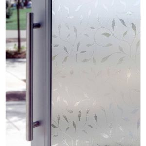 Artscape Window Film Fresh Artscape Frosted Etched Leaf Indoor Window 24 In W X