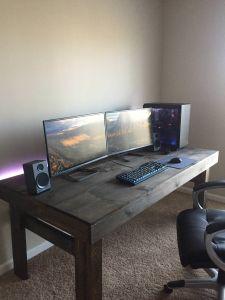 Built In Desk Fresh Pin by Raldo On Setups In 2019