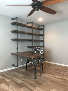 Built In Desk Luxury Shelving Wall Unit with Built In Desk Made Using Galvanized