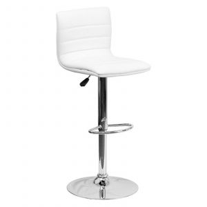 Burgundy Bar Stools Elegant Flash Furniture Contemporary Vinyl Adjustable Height Barstool with Chrome Base Multiple Colors