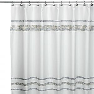Contemporary Shower Curtains Unique Croscill Spa Tile 72 Inch X 84 Inch Fabric Shower Curtain
